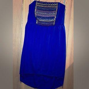 Maurice's Blue Strapless Dress